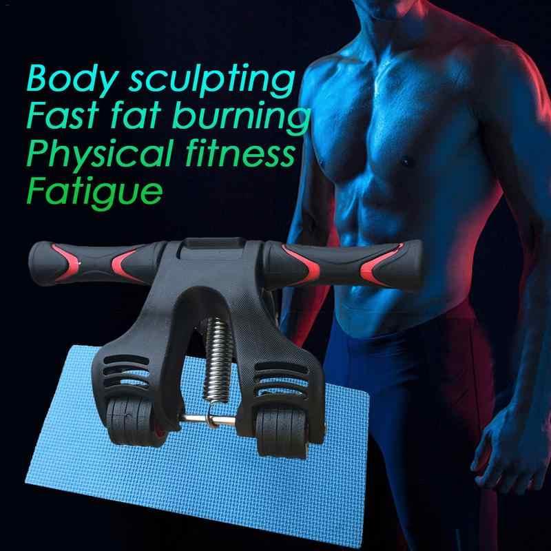 Wiosna składane mięśni brzucha rolki koła koła składany koła do ćwiczeń w domu rolki dla rdzenia szkolenia i treningu z ochraniacze na kolana