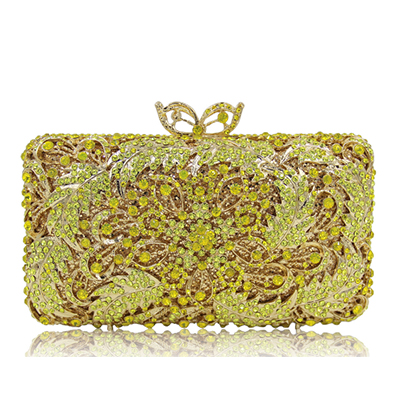 Women's Cocktail Prom Golden Crystal Clutch Evening Bags Bridal Wedding Dress Diamond Shoulder Bags Metal Clutches gold/yellow golden crystal diamond rabbit women evening clutch bags bridal wedding dress handbags shoulder purses hard case metal clutches