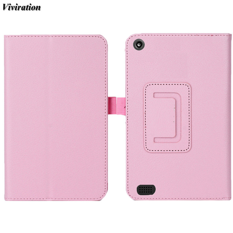 Viviration 7 Inch Tablet Case For Amazon Kindle New Fire HD 7 2015 Flip Stand Cover Funda Protective Tablet Accessories 2018 New