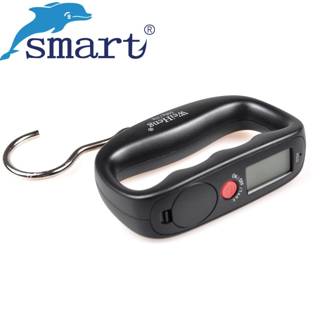 50 kg/10g escala Pesca LED Digital portátil electrónico del equipaje colgando escala de mano balanza Pesca tackle