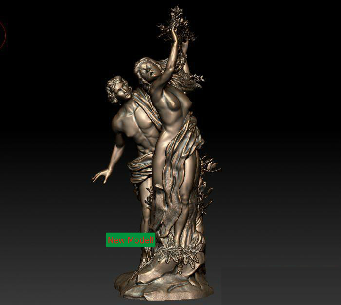 3D model for cnc 3D  CNC machine in STL file format Apollo and Daphne christian cross 3d model relief figure stl format religion 3d model relief for cnc in stl file format
