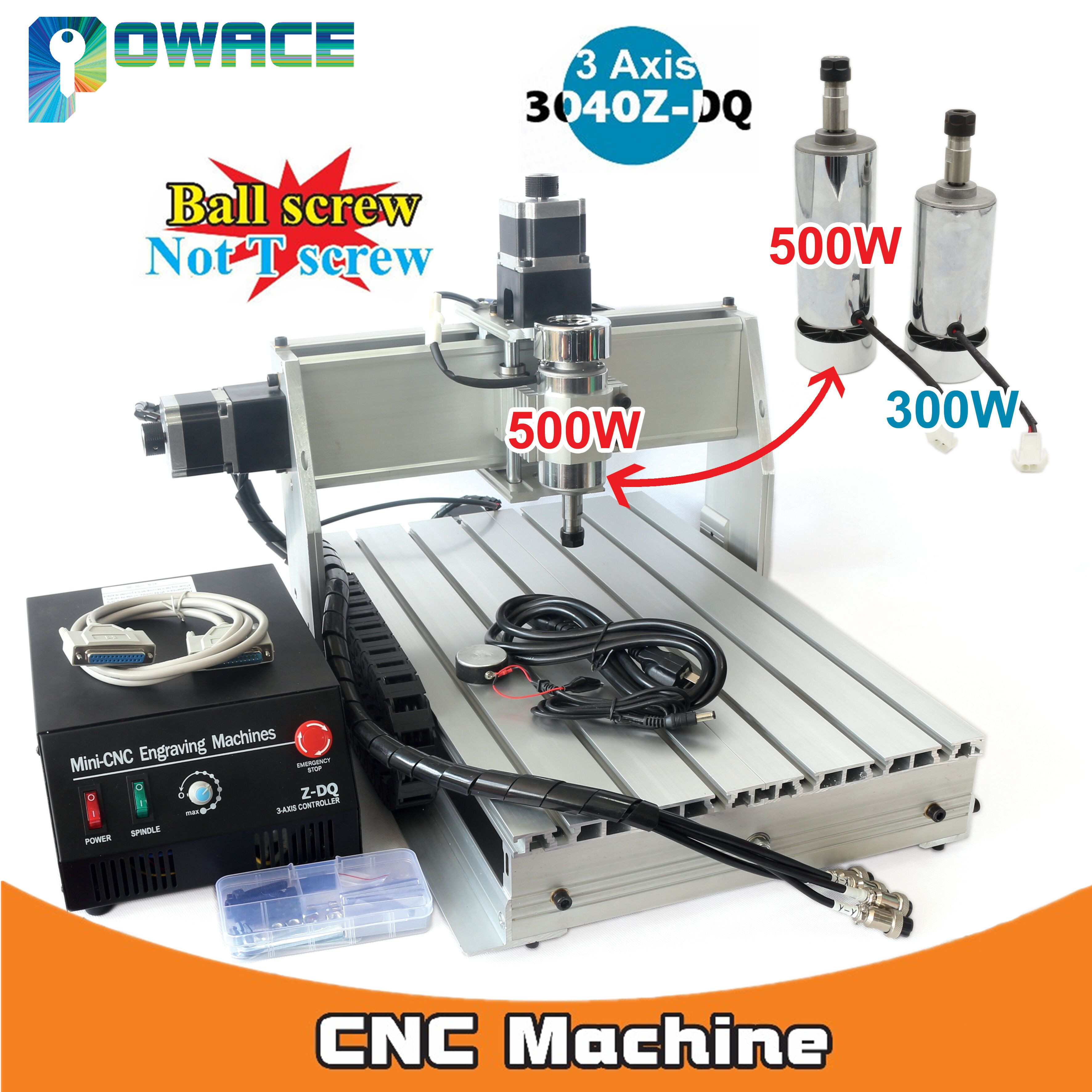 [EU Stock/Free VAT] 3 Axis 500W 3040Z-DQ Parallel Port Desktop Ball Screw 3040 CNC Router Engraving Milling Machine 220V