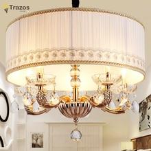 Accesorio de Iluminación LED Araña moderna Decoración del Hogar Del Partido de Cena Chandelier lustres de sala de La Lámpara de Techo de cristal de La Boda