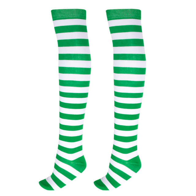 4c226fd9c9f placeholder 1 Pair Women Girls Christmas Striped Over Knee Stockings  Fashion Stripe Over Knee Socks Long Cotton
