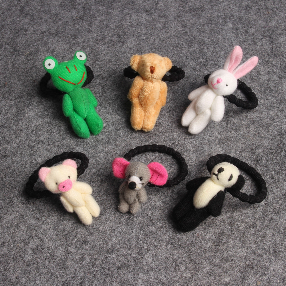 1 PCS New Cute Plush Panda Children Hair Ropes Cute Elastic Rubber Hair Band Girls Hair Accessories Baby Headwear Kids Headdress