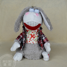 cartoon donkey toy about 30cm Electric donkey dressed check coat,singing and dancing doll birthday gift, Xmas gift c962