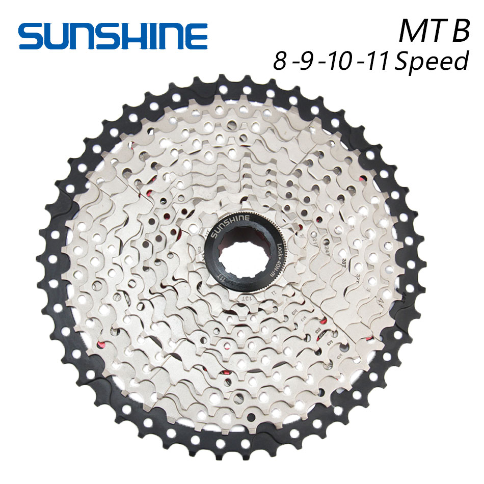 SUNSHINE 8S 9S 10S 11S 32T 36T 40T 42T 46T 50T Bicycle Flywheel Sprockets Wide Ratio MTB Mountain Bike Bicycle Component parts bicycle mtb freewheel 11 32t 36t 40t 42t 46t 50t sprockets 8 9 10 11 speed cassette mountain bike flywheel cog