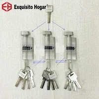 Gestión secundaria misma llave abrir todas las llaves 70mm cilindro puerta Hardware cerraduras de seguridad latón cilindro único enclavamiento