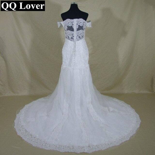 QQ Lover Princess Mermaid Wedding Dress Lace Appliques Vintage Sweetheart Wedding Dress Lace Back Wedding Gown -in Wedding Dresses from Weddings & ...