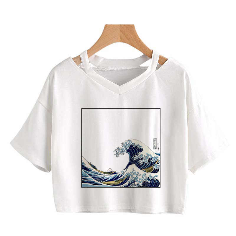 David Van Gogh art Letters Print Harajuku Casual Funny T Shirt for Lady Top Tee Hipster Tumblr Shirt Women Fashion tee Crop Top