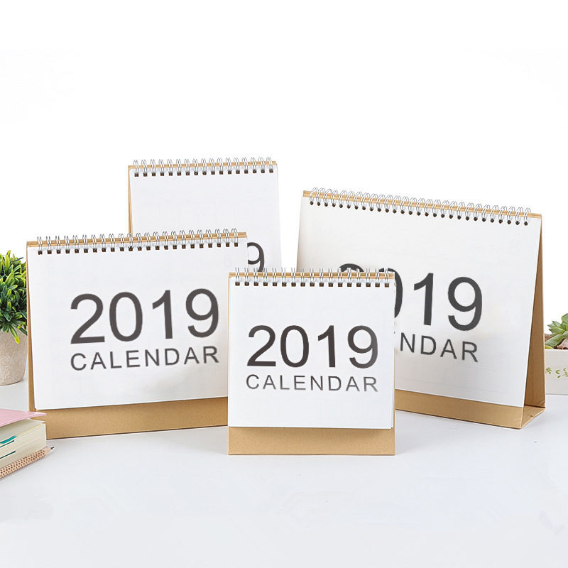 New 2019 Small/medium Simple Calendar Table Desktop Calendar Agenda Organizer Daily Schedule Planner 2018.09~2019.12 Calendar