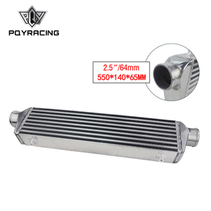 """Image 1 - PQY   Universal Turbo Intercooler Bar & Plate OD 2.5"""" 550*140*65mm Front Mount Intercooler PQY IN811 25"""