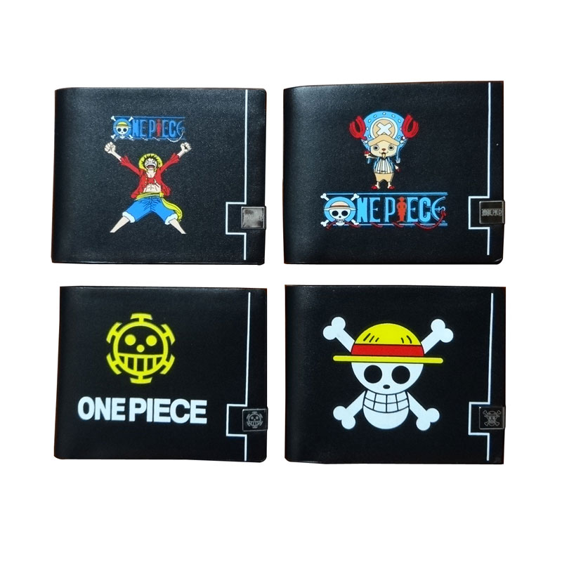 Casual Leather Wallet Cartoon Anime Onepiece Print Purse Men Women Money Holder carteira Creative Gift One Piece Short Wallets
