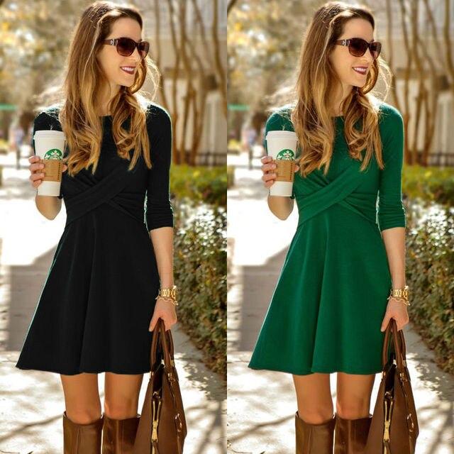 Vestito verde nero