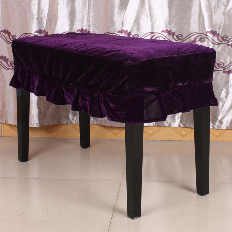 Piano Chair Covers Stool Chair Bench Cover Pleuche Decorated With Macrame 75 * 35cm For Piano Dual Seat Bench HGTXTBCR021
