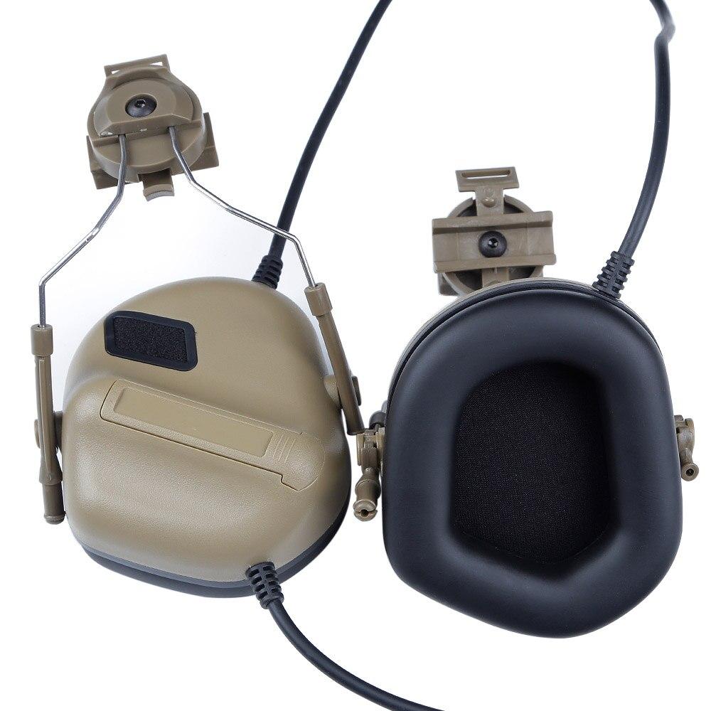 Fone de ouvido tático capacete militar fone