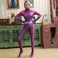 Totally Spies Base Costume Suit Lycra Spandex Superhero Girl Cosplay Zentai Catsuit Adult Women Halloween Carnival Fancy Dress