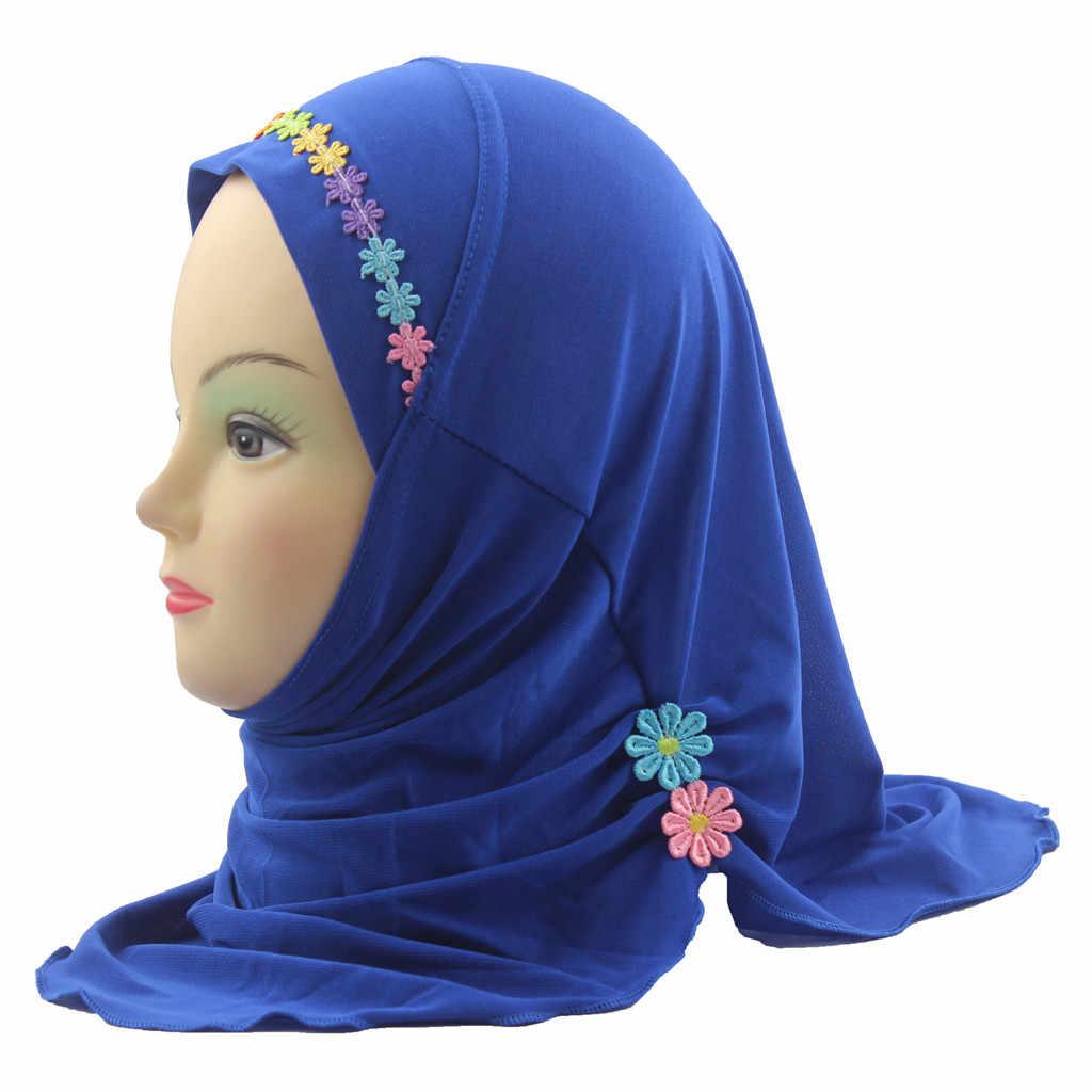 Ребенок мусульманский головной платок эластичный тюрбан шапка после химиотерапии Кепки волос головы шарф Тюрбан душ Кепки femme musulman turbantes # P6
