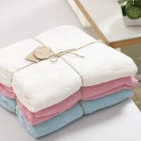 Newborn Baby Blankets Super Soft Bamboo Fiber Crochet Summer 120cmX110cm Candy Color Crib Casual Sleeping Bed