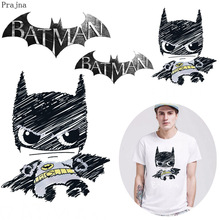 Prajna Thermal Iron On Transfer Patch Badge Applique Batman Heat Vinyl Transfer For Clothes T shirt Fabric Stickers Washable DIY laser heat thermal transfer printing paper for t shirt clothes fabric roll size 420mm 30m tl 150m