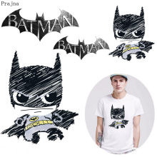 Prajna Thermal Iron On Transfer Patch Badge Applique Batman Heat Vinyl Transfer For Clothes T shirt Fabric Stickers Washable DIY(China)