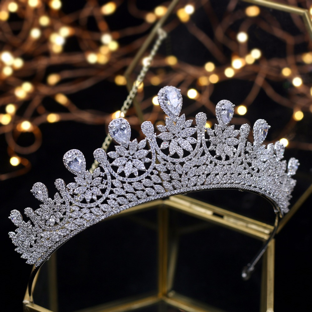 Asnora Design Crystals Tiara Princess Wedding Tiaras Bridal Crowns tiara de noiva Wedding Hair Accessories