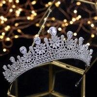 Asnora Design Crystals Tiara Princess Wedding Tiaras Bridal Crowns tiara de noiva Wedding Hair Accessories
