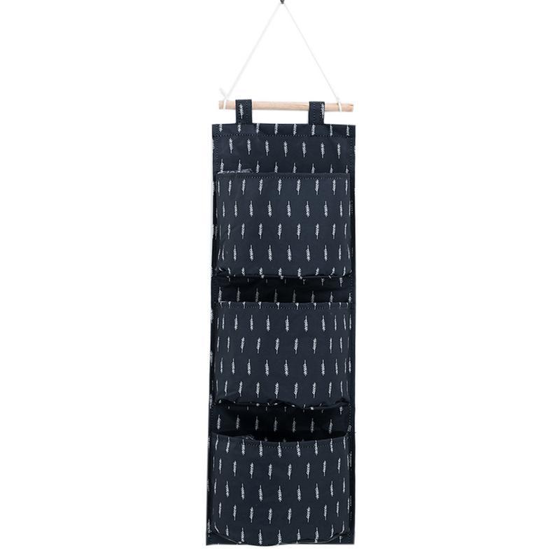 b9282ddcb6 Dropwow Flamingo Pattern Cotton Linen Hanging Storage Bag 3 Pockets ...