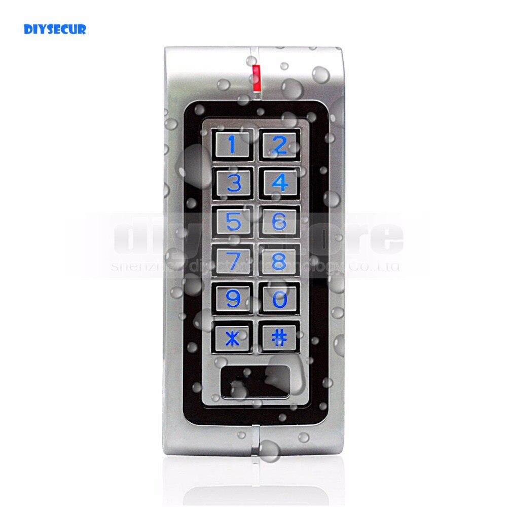 Diysecur防水rfid 125 Khzアクセス制御リーダーキーパッド付きメタルケース高リーダーキーパッド