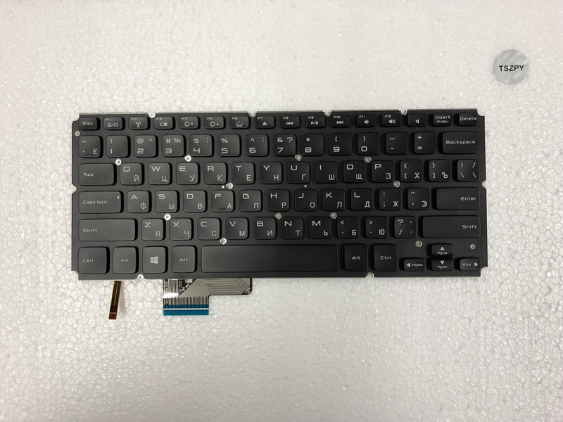 New Backlit laptop keyboard for Dell XPS 14 L421X 15 L521X RU Russian without frame PK130O11B05 NSK-L62BC russian keyboard for dell xps 15 9560 ru black with backlit