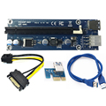 USB 3.0 PCI-E Extender Riser Card PCI Express 16X Adapter 60cm SATA 15Pin to 6Pin Power Cable Cord for Bitcoin BTC Mining Tool