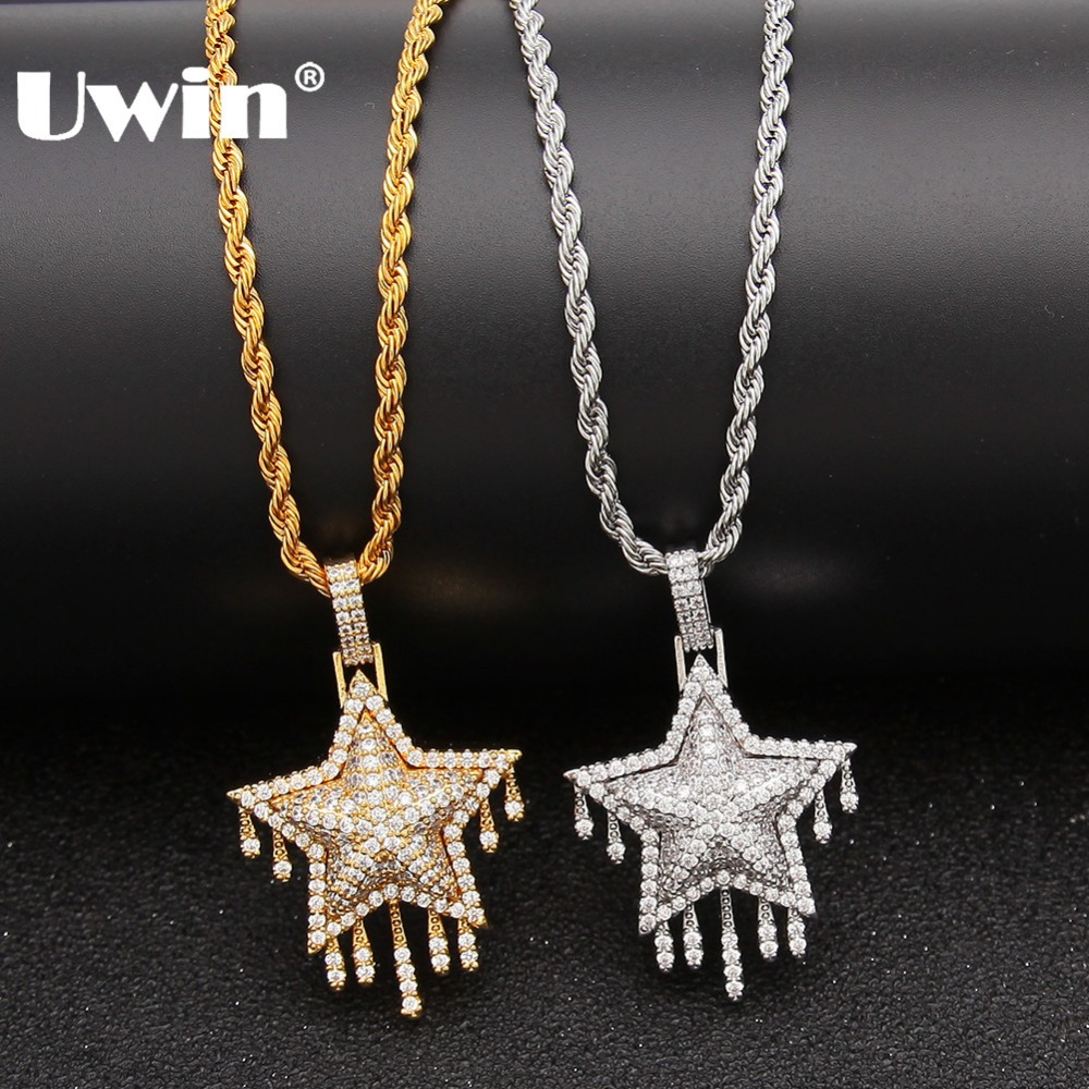 Women Colorful Cube Crystal Rhinestone Necklace Pendant Copper Chain G