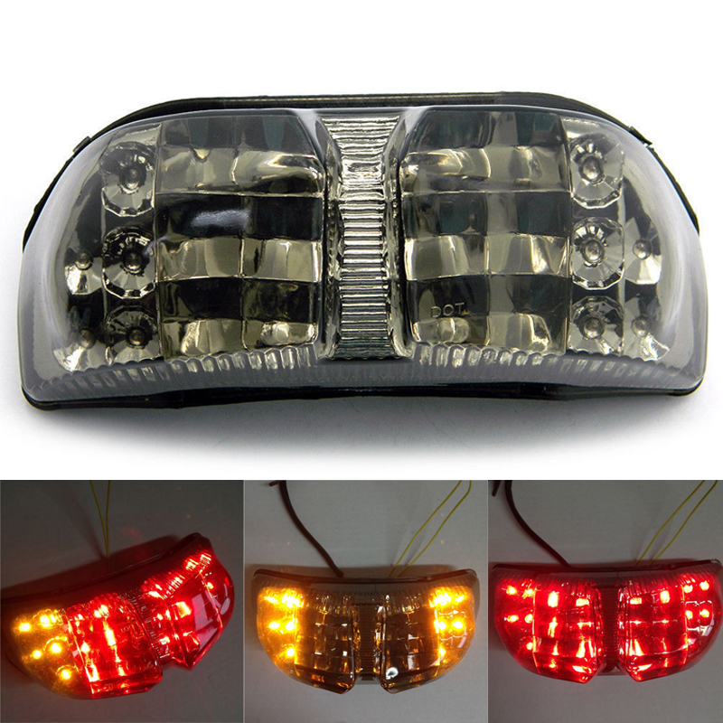 Motorcycle Parts Accessories Racing LED Tail Light Turn Signals For Yamaha FAZER FZ1 2006 2007 2008 2009 2010 Smoke aftermarket free shipping motorcycle parts eliminator tidy tail for 2006 2007 2008 fz6 fazer 2007 2008b lack