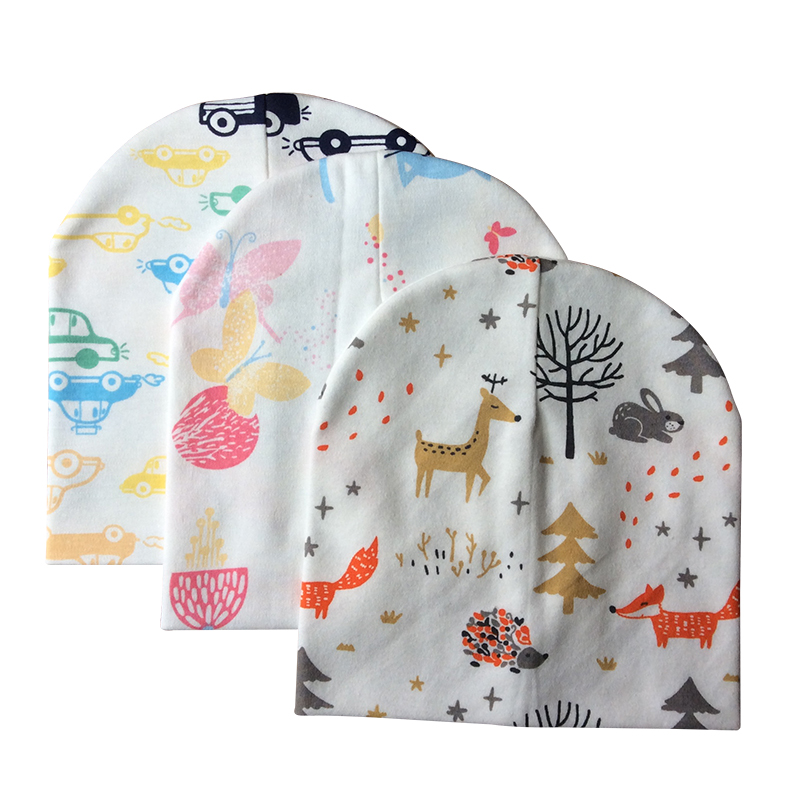 Baby Hat Cotton Printing Beanies For Boy And Girl Cartoon Patterned Caps Children Accessories
