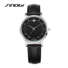 SINOBI Women's Fashion Quartz Wrist Watch Leather Silver Nail Waterproof Female Brand Ladies' Alloy Wristwatches Bracelet L28