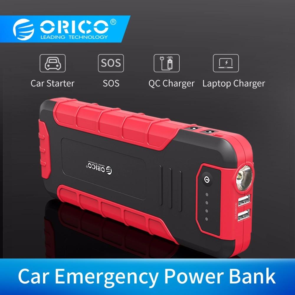 ORICO CS3 18000 mAh Power Bank Multi-funktion QC3.0 Externe Batterie Fahrzeug Motor Booster Notfall Power Bank mit Taschenlampe