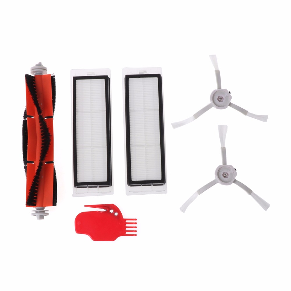 Spare Replacement Parts For Xiaomi Robot Main Brush+2 Side Brushed+2 Filters New