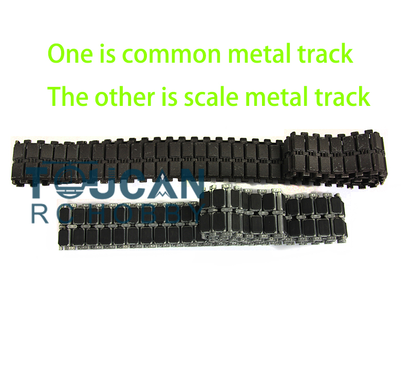 Фото US Stock Fast Free HengLong 1/16 Scale USA M1A2 Abrams RC Tank Metal Tracks W/ Double-sides Rubber Pads