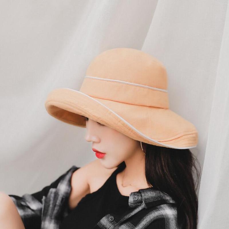 BINGYUANHAOXUAN 2019 New Summer Bucket Caps Retro Cotton Bucket Hats for Men Women Outdoor Travel Hat in Women 39 s Bucket Hats from Apparel Accessories