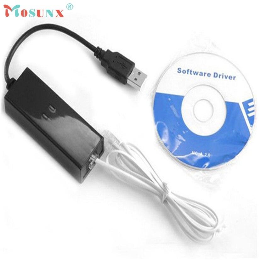 Mosunx Supérieure qualité USB 56 K V.90 V.92 Externe Dial Up Voix Fax Modem de Données pour Win XP VISTA 7 8 Linux Mmar18 MotherLander