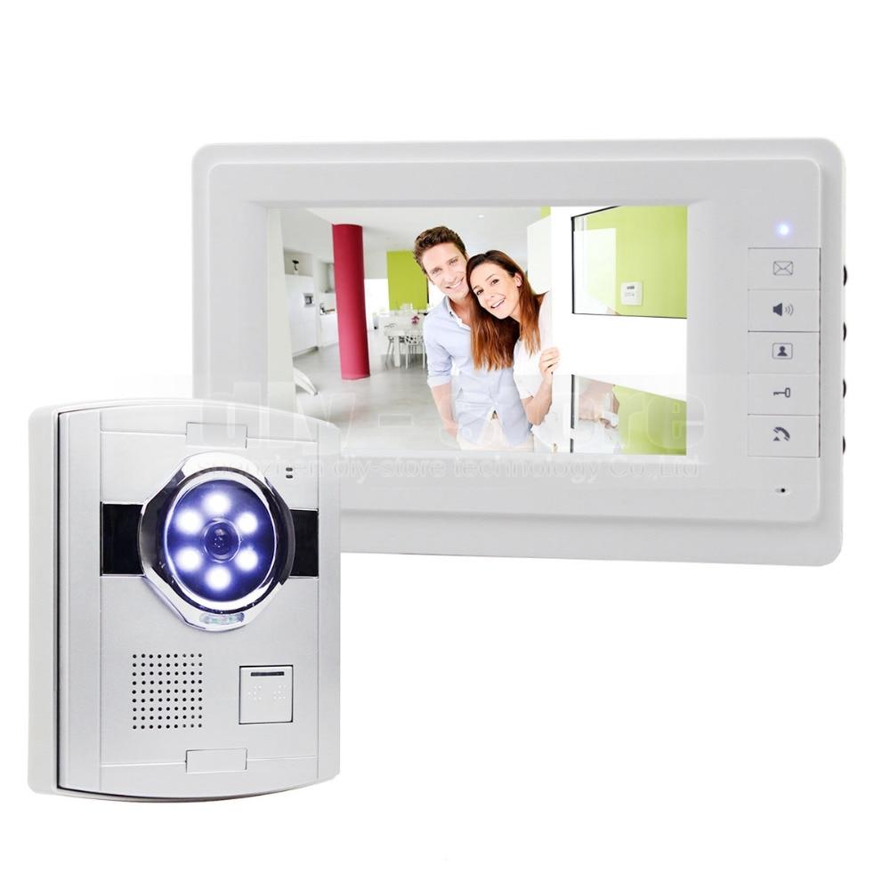 DIYSECUR 7 Wired Video Doorbell Intercom Home Security 700TVL Camera Fashionable Monitor New