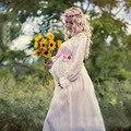 Sesión de fotos de maternidad vestido largo de encaje transparente flor dress vestidos embarazo ropa apoyos de la fotografía de maternidad para embarazadas