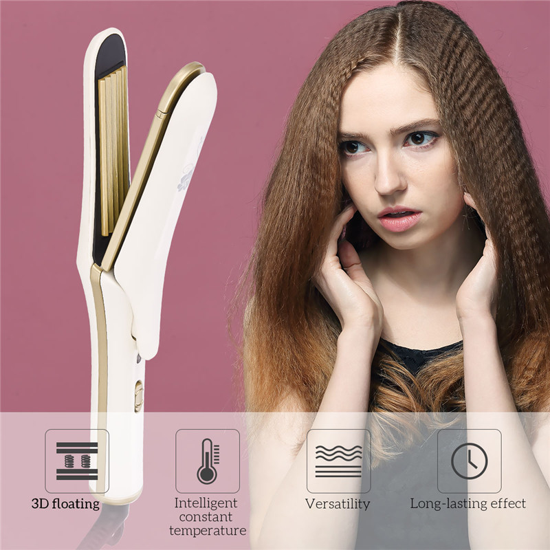 110-240V Professional Ceramic Corrugated iron Wave corrugation Curling Flat irons Hair