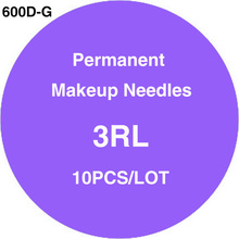 600D-G Sterilized Disposable Tattoo & Permanent Makeup Rotary Tattoo Machine Needles 3RL 10pcs/lot