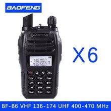 (6 PCS)Black BaoFeng protable radio UV-B6 Dual Band UHF VHF Two Way Radio walkie talkie