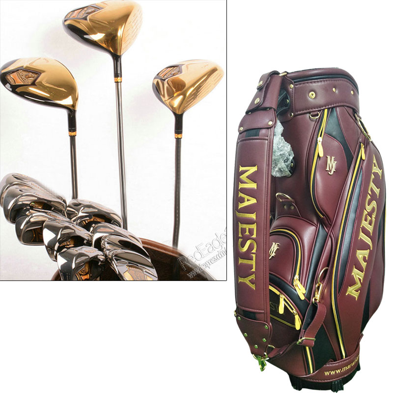 Cooyute New Mens Maruman Majesty Super 7 Compelete Club Set 1.3.5 Wood+irons+bag Graphite Golf Shaft Golf Clubs Free Shipping