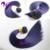 Dos Tonos Ombre Clip En Extensiones de Cabello Humano Clip En 8A Extensiones de cabello Púrpura del Clip En El Cabello Humano Virginal Brasileño VENTA