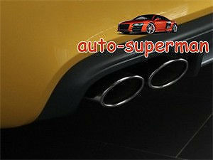 CHROME EXHAUST MUFFLER TIPS For AUDI TT 2.0T 2007-2010