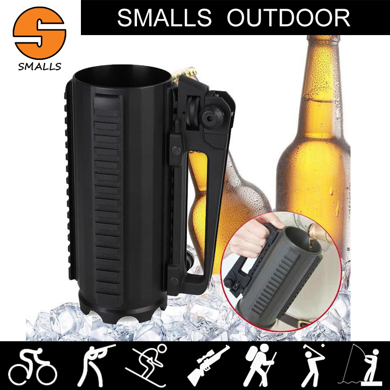Hunting AR15 M4 gun accessories Tactical Beer Cup Water Cup Battle Rail Mug Detachable C ...