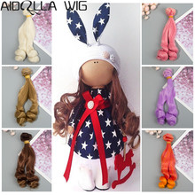 Doll Accessories High-temperature Synthetic Fiber Curly 15cm Hair Extensions for Kurhn BJD Pullip Bylth American DIY Wigs